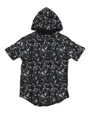 Boys - Printed Splash Hooded Tee (8-20)-2224484