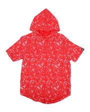 Boys - Printed Splash Hooded Tee (8-20)-2224479