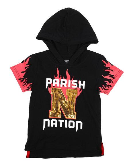 Parish - On Fire Print Hooded Tee (4-7)