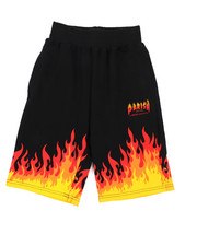 Shorts - On Fire Printed Knit Shorts (8-20)-2224527