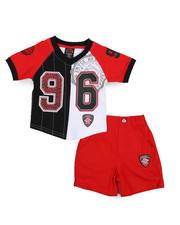 Sets - V-Neck Jersey/Denim Short Set (Infant)-2222898