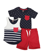 Sizes 2T-4T - Toddler - Knit Tops & Twill Bottom 3 Piece Set (2T-4T)-2223694