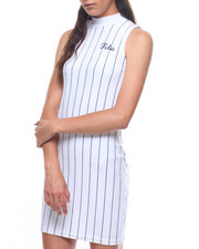 Dresses - Esme Velour Dress Stripe-2225345