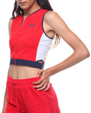 Fila - Tally Zip Cutouts Crop Tank-2225643