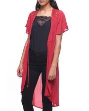 Fashion Lab - Lace Yoke Kimono Flutter  Sleeve-2224843