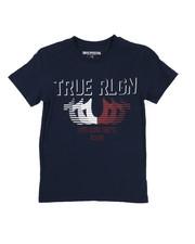 True Religion - True Religion Striped Horse Shoe Tee (8-20)-2225459