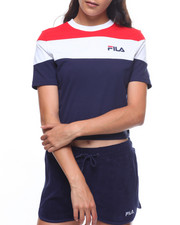 Fila - Maya Color Block Crop Tee-2225616