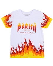 Tops - On Fire Printed Graphic Tee (4-7)-2224433