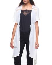 Fashion Lab - Lace Yoke Kimono Flutter  Sleeve-2224833