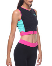 Fila - Tally Zip Cutouts Crop Tank-2224927