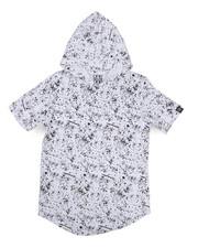 Boys - Printed Splash Hooded Tee (8-20)-2224489