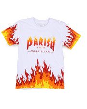 Parish - On Fire Printed Graphic Tee (8-20)-2224423