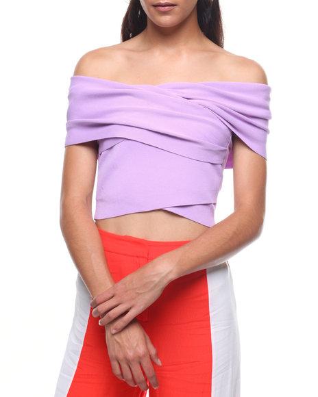 Fashion Lab - Off Shoulder Wrap Front Top