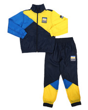 Parish - 2 Pc Color Block Nylon Jogger Set (8-20)-2220850