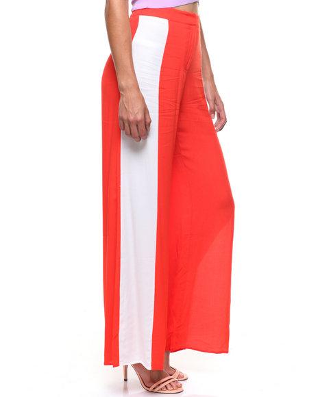 Fashion Lab - Stripe Side Wide Leg Pant