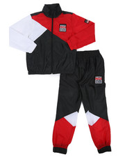 Parish - 2 Pc Color Block Nylon Jogger Set (8-20)-2220884