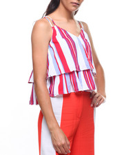 Fashion Tops - Halter Stripe Blouse-2224945