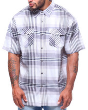 Button-downs - S/S Yarn Dyed Plaid Woven Shirt (B&T)-2225065