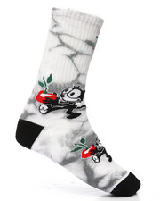 DRJ SOCK SHOP - Felix Crystal Wash Crew Socks-2201859