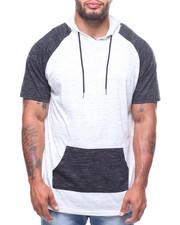 Shirts - S/S Raglan Marled Tee/Hood (B&T)-2226526
