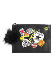 Clutches - Clutch w/Faux Fur Pom-2223313