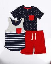 Sets - Knit Tops & Twill Bottom 3 Piece Set (4-7)-2223896