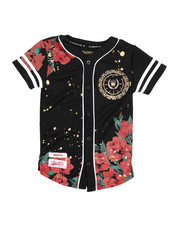 SWITCH - Flower Print Baseball Jersey (8-20)-2224036