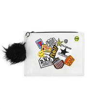 Clutches - Clutch w/Faux Fur Pom-2223314