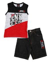 Enyce - 2 Piece Denim Short/Tank Set (4-7)-2223909