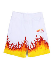 Boys - On Fire Printed Knit Shorts (2T-4T)-2226393
