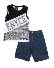 Enyce - 2 Piece Denim Short/Tank Set (4-7)-2224018