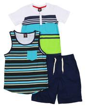 Arcade Styles - Knit Tops & Twill Bottom 3 Piece Set (8-20)-2223884