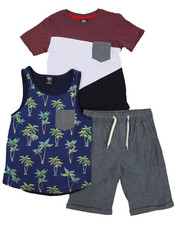 Arcade Styles - Knit Tops & Twill Bottom 3 Piece Set (8-20)-2223888