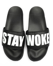 Mens-Swim - Stay Woke Slides-2227030