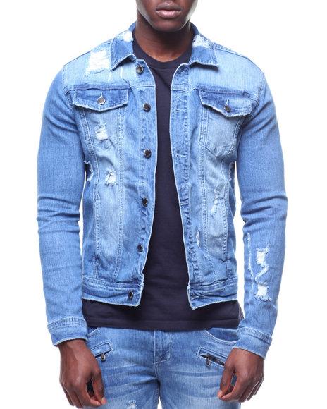0ddb96b0285fc Buy Distressed Denim Jacket Men s Outerwear from Kilogram. Find ...