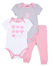 Infant & Newborn - 3 Piece Bodysuits and Legging Set (Infant)-2226266