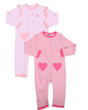 Infant & Newborn - 2 Pack I Heart Coverall Set (Infant)-2226283
