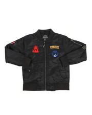 Boys - Patchwork Flight Jacket (8-20)-2226337
