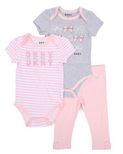 Infant & Newborn - 3 Piece Bodysuits and Legging Set (Infant)-2226260