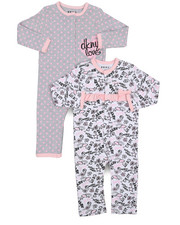 Infant & Newborn - 2 Pack Shine Coverall Set (Infant)-2226272