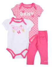 Infant & Newborn - 3 Piece Bodysuits and Legging Set (Infant)-2226256