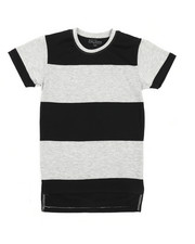 Tops - Crew Neck Rugby Stripe Tee (8-20)-2227375