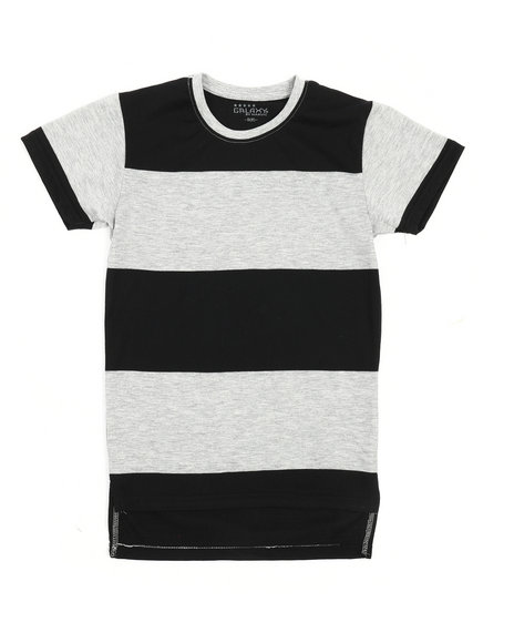 ed577e060648 Buy Crew Neck Rugby Stripe Tee (8-20) Boys Tops from Arcade Styles ...