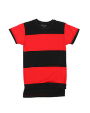 Tops - Crew Neck Rugby Stripe Tee (8-20)-2227380