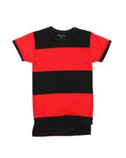 Boys - Crew Neck Rugby Stripe Tee (8-20)-2227380