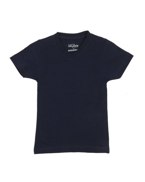 Arcade Styles - V-Neck Solid Tee (4-7)