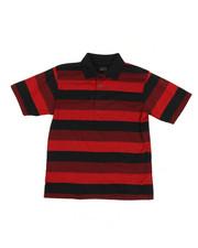 Arcade Styles - Stripe Polo Shirt (8-20)-2227390