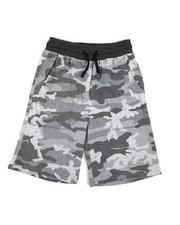 Boys - Printed Camo Jogger Shorts (8-20)-2227486