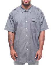 Sean John - S/S Grey Chambray Shirt (B&T)-2228395