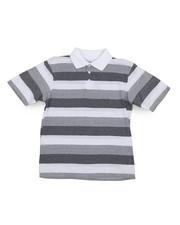 Arcade Styles - Stripe Polo Shirt (8-20)-2227385